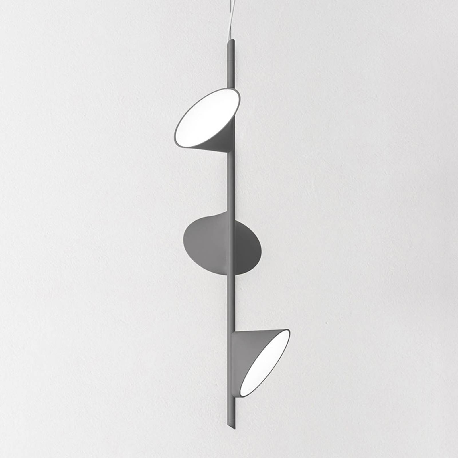 Axolight Orchid LED-riippulamppu 3 lampp. harmaa