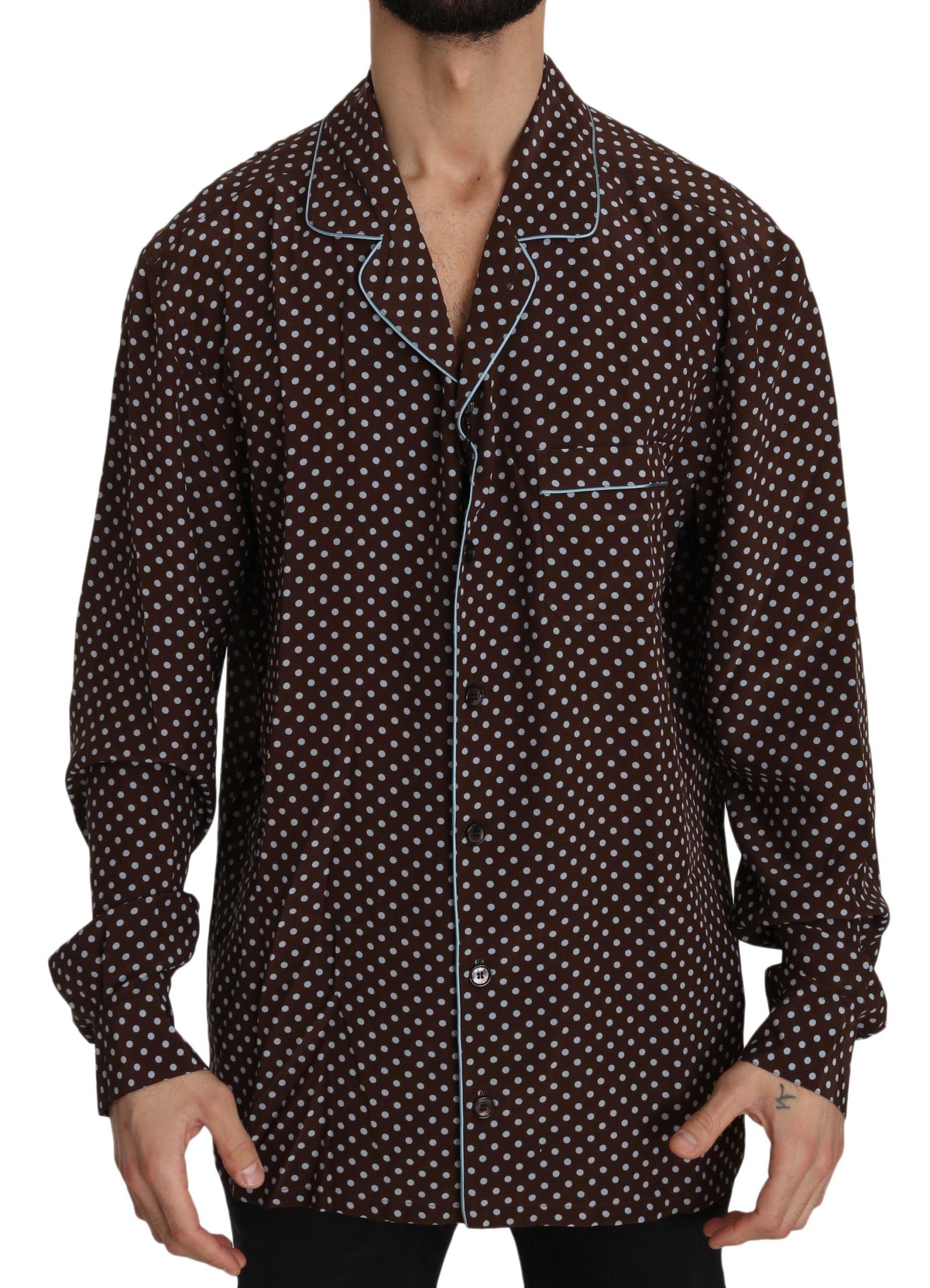 Dolce & Gabbana Men's Shirt Brown TSH3361 - IT39   S