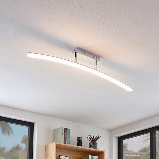 Bueformet LED-taklampe Lorian