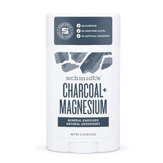 Schmidts Naturals Deodorant Stick Charcoal + Magnesium, 75 g