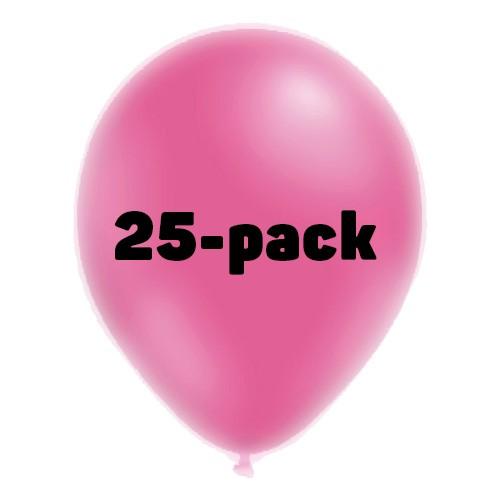 Ballonger Neonrosa - 25-pack