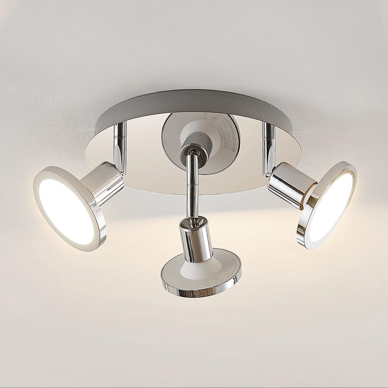Lindby Ayden LED-takspot, tre lyskilder, rund