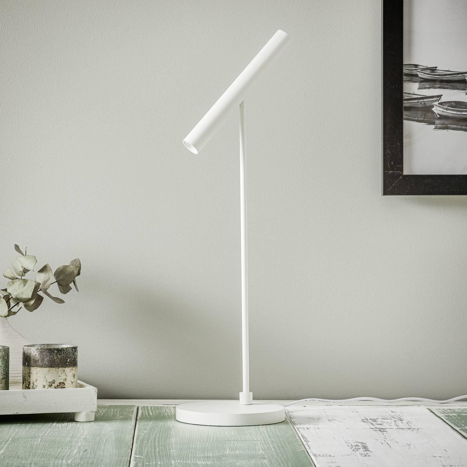 LOUM Meyjo -LED-pöytälamppu, sensor-dim, valkoinen