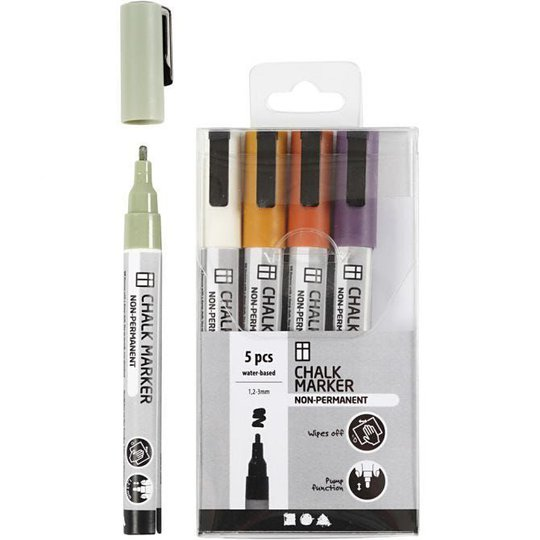 Creativ Company Chalk Markers Duse Farger 5 stk