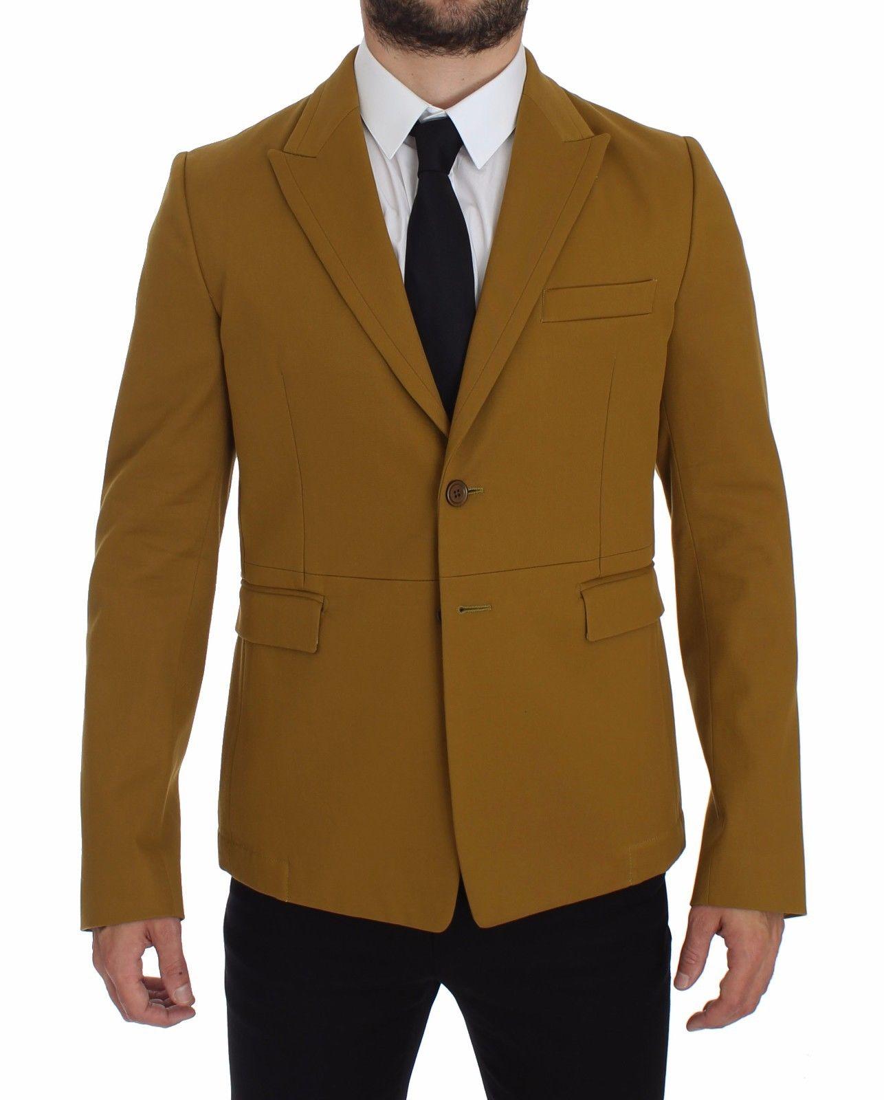 Dolce & Gabbana Men's Cotton Stretch Blazer Yellow GTT10103 - IT52 | XL