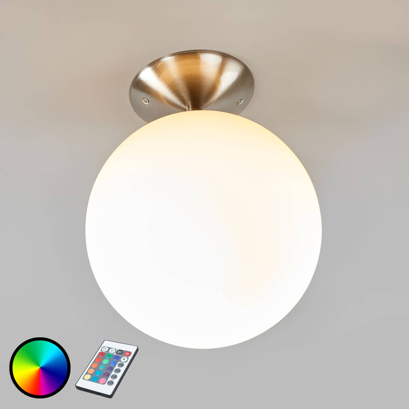 Säädettävä kattovalaisin Rondo-C, LED RGBW