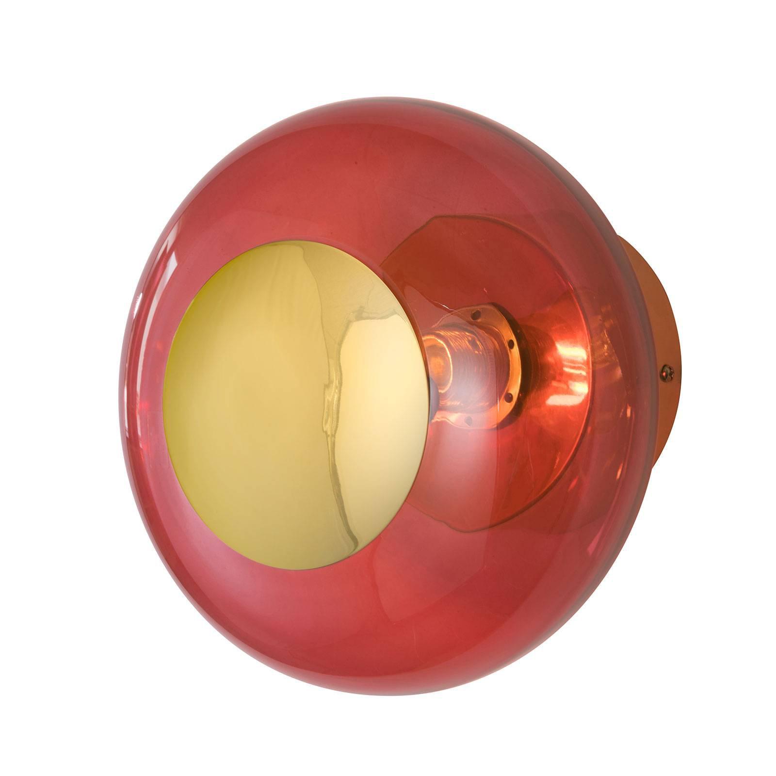 EBB & FLOW Horizon, fatning gull/rød, Ø 21 cm