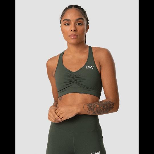 Scrunch Sports Bra, Army Green