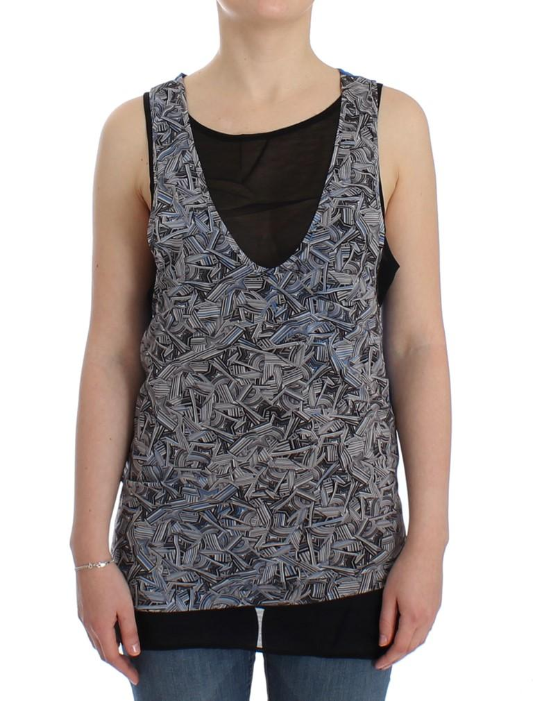 Costume National Women's Sleeveless Top Black SIG12536 - L