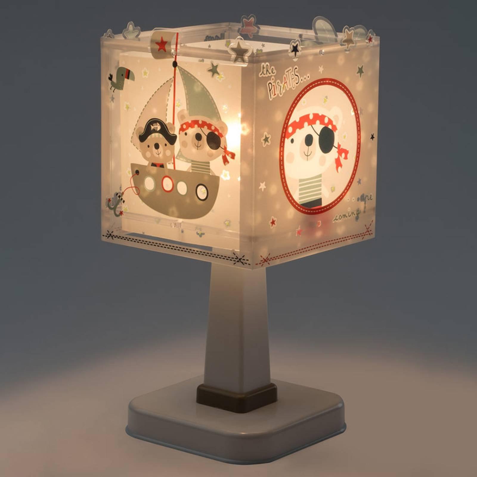 Pirates - kantet bordlampe til barnerommet