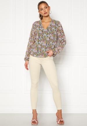 ONLY Blush Mid Ank Raw Jeans Ecru L/32