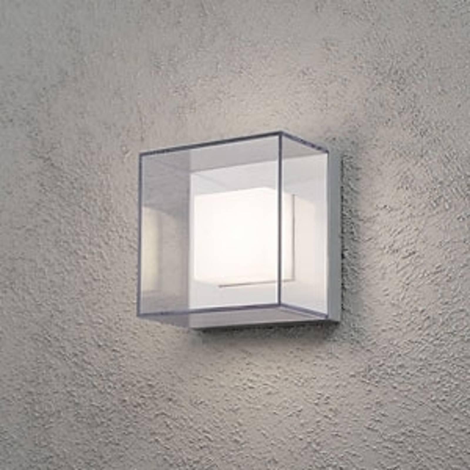 Firkantet vegghengt utelampe Sanremo med LED-lys