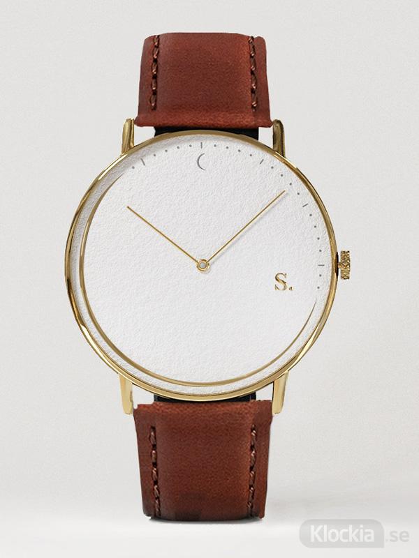 Damklocka,Herrklocka Sandell Day Brown Leather SSW38-BRL