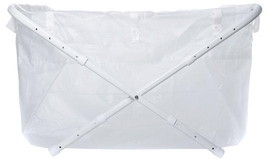 BiBaBad Flexi Sammenleggbart Badekar 60-80 cm, Transparent