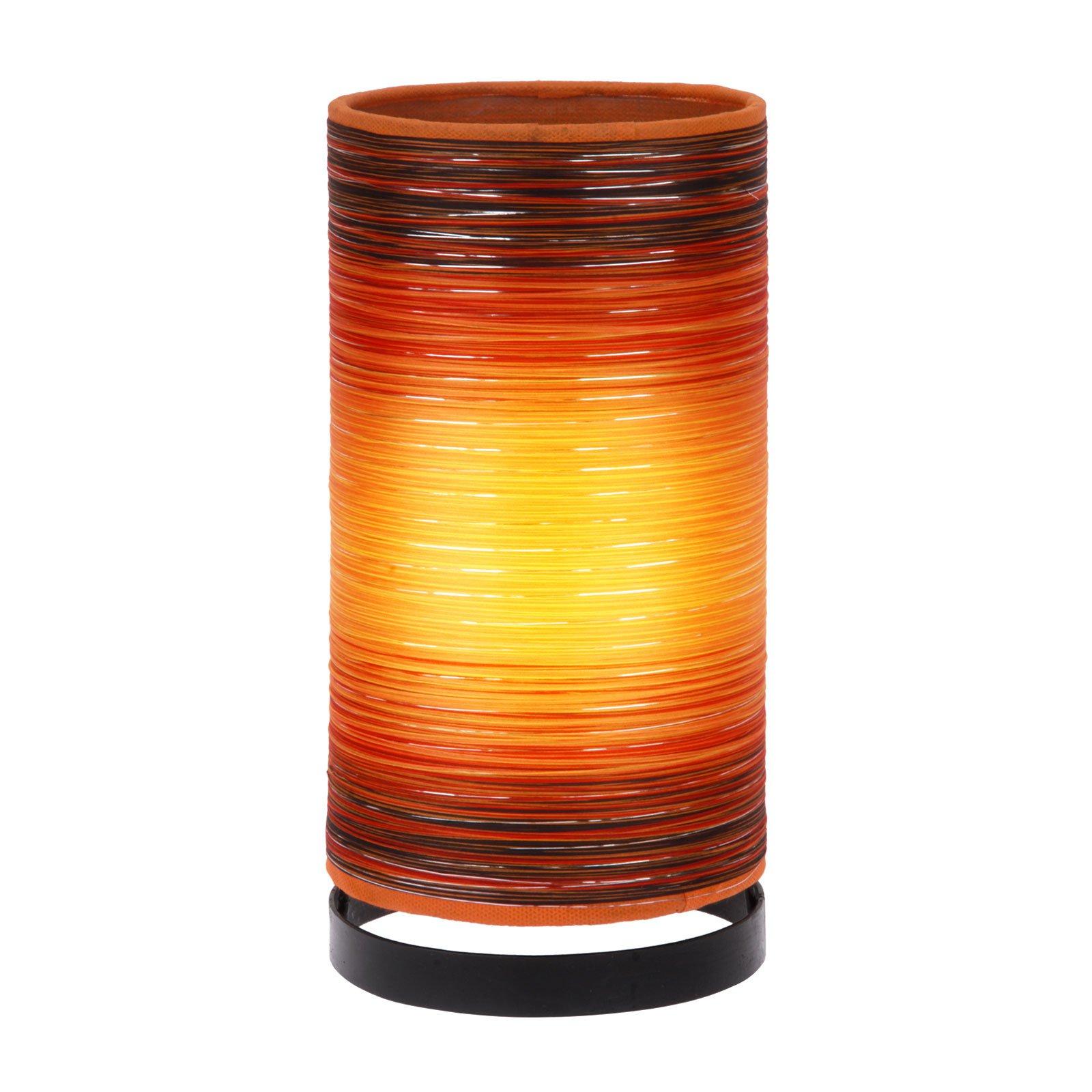 Bordlampe Julie viklet inn med tråder, oransje
