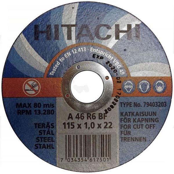 Hitachi 79403203 Katkaisulaikka Ø115x1,0 mm