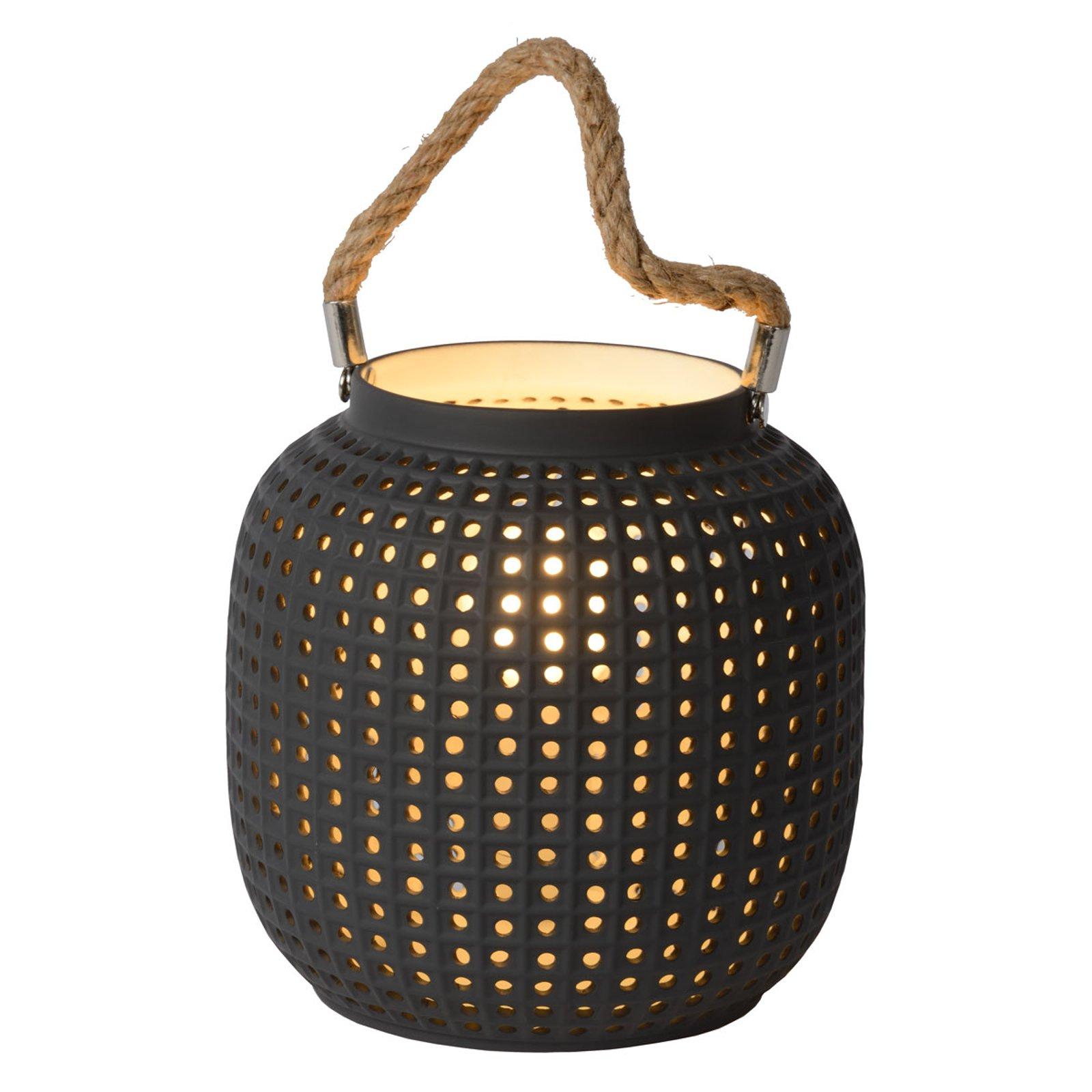 Safiya bordlampe av porselen, antrasitt
