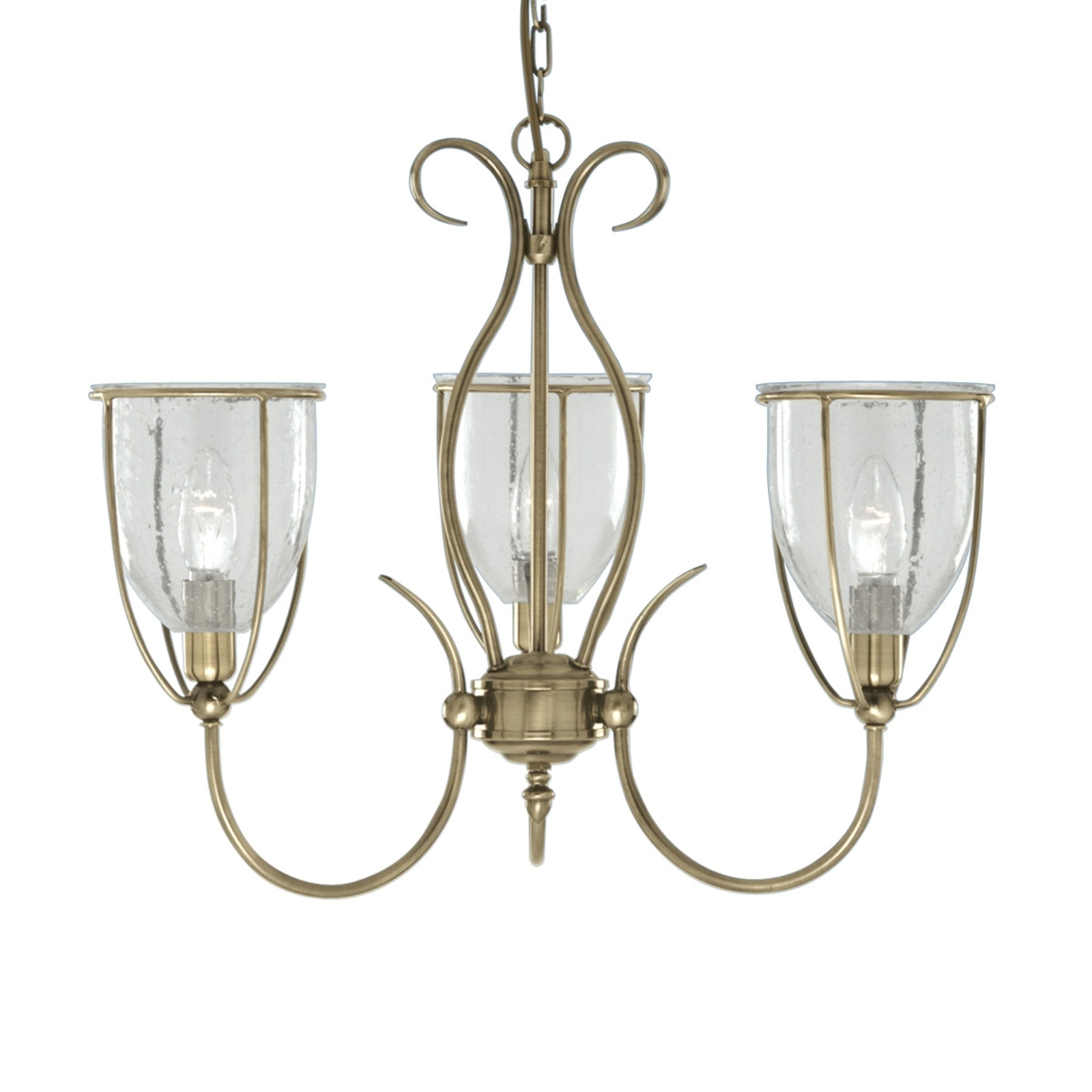 3-lamp. antiikkinen SILHOUETTE-riippuvalaisin
