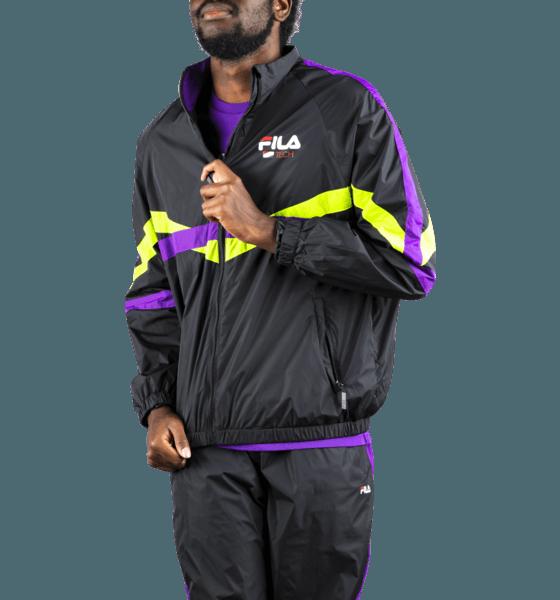 Fila M Reign Track Jacket Jackor BLACK/PURPLE/LIME