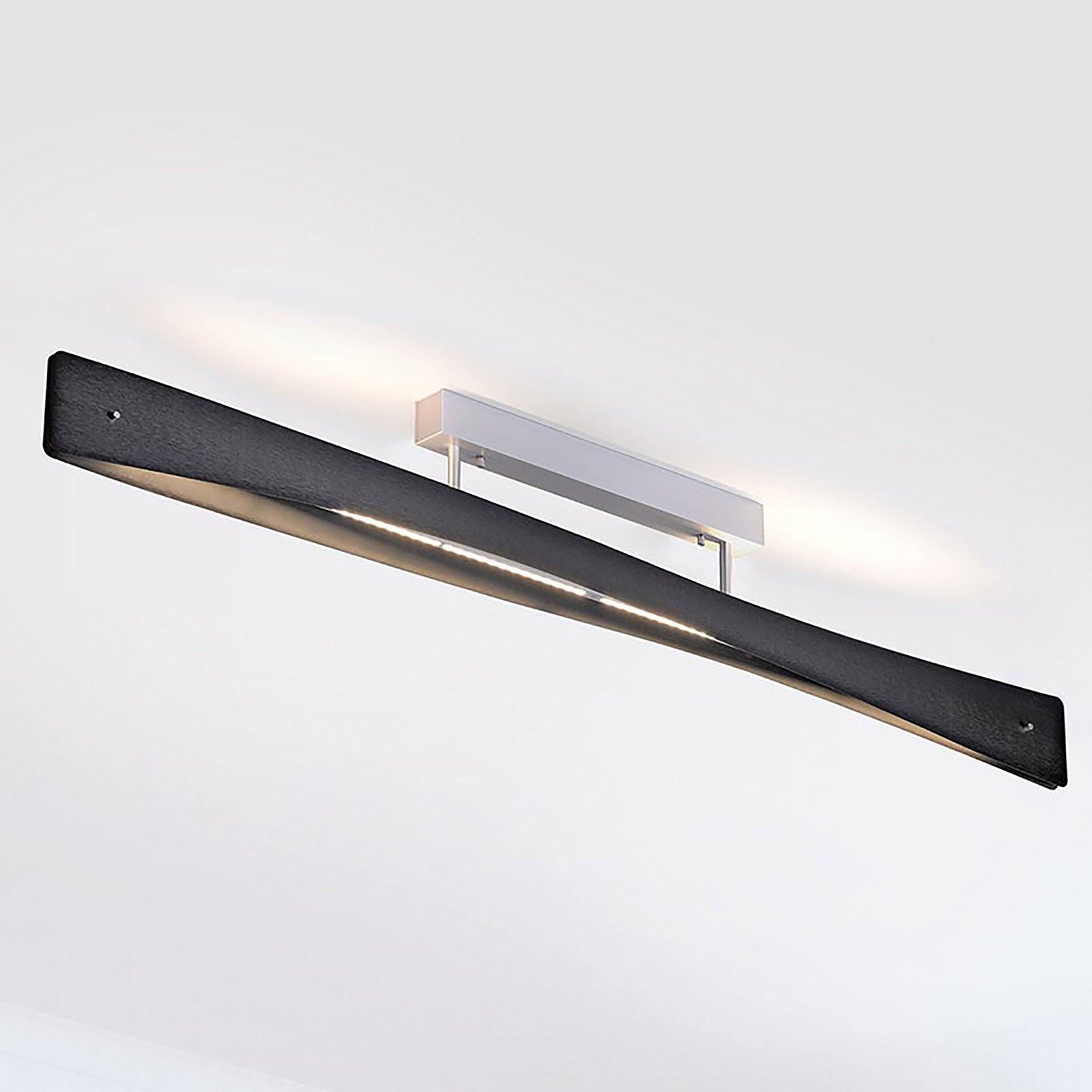 Lucande Lian LED-taklampe, svart, aluminium