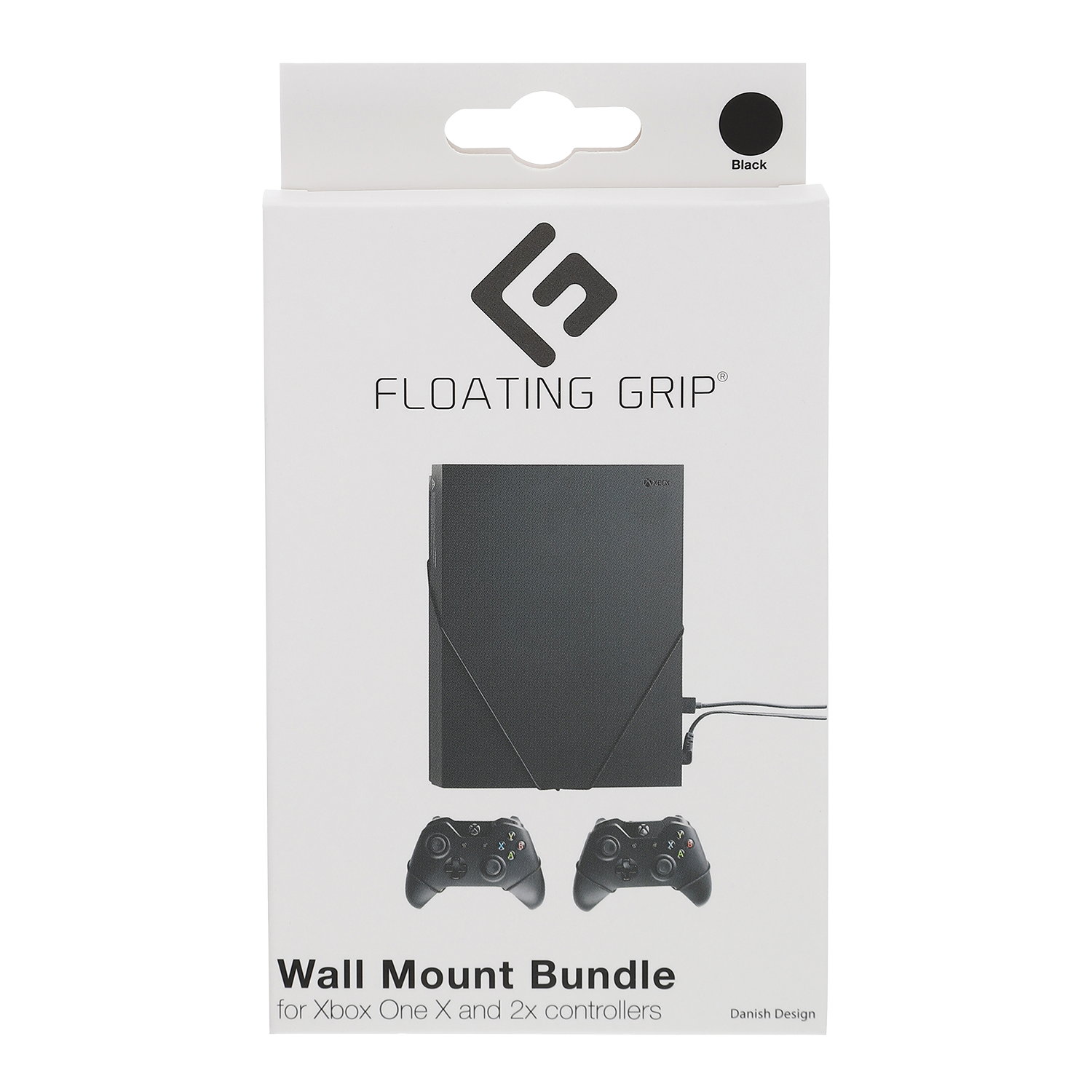 Floating Grips Xbox One X and Controller Wall Mounts - Bundle (Black)