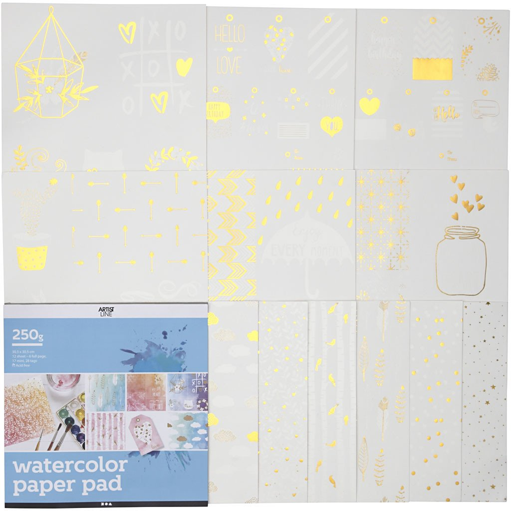 Coloring book for Watercolor (12 sheets)