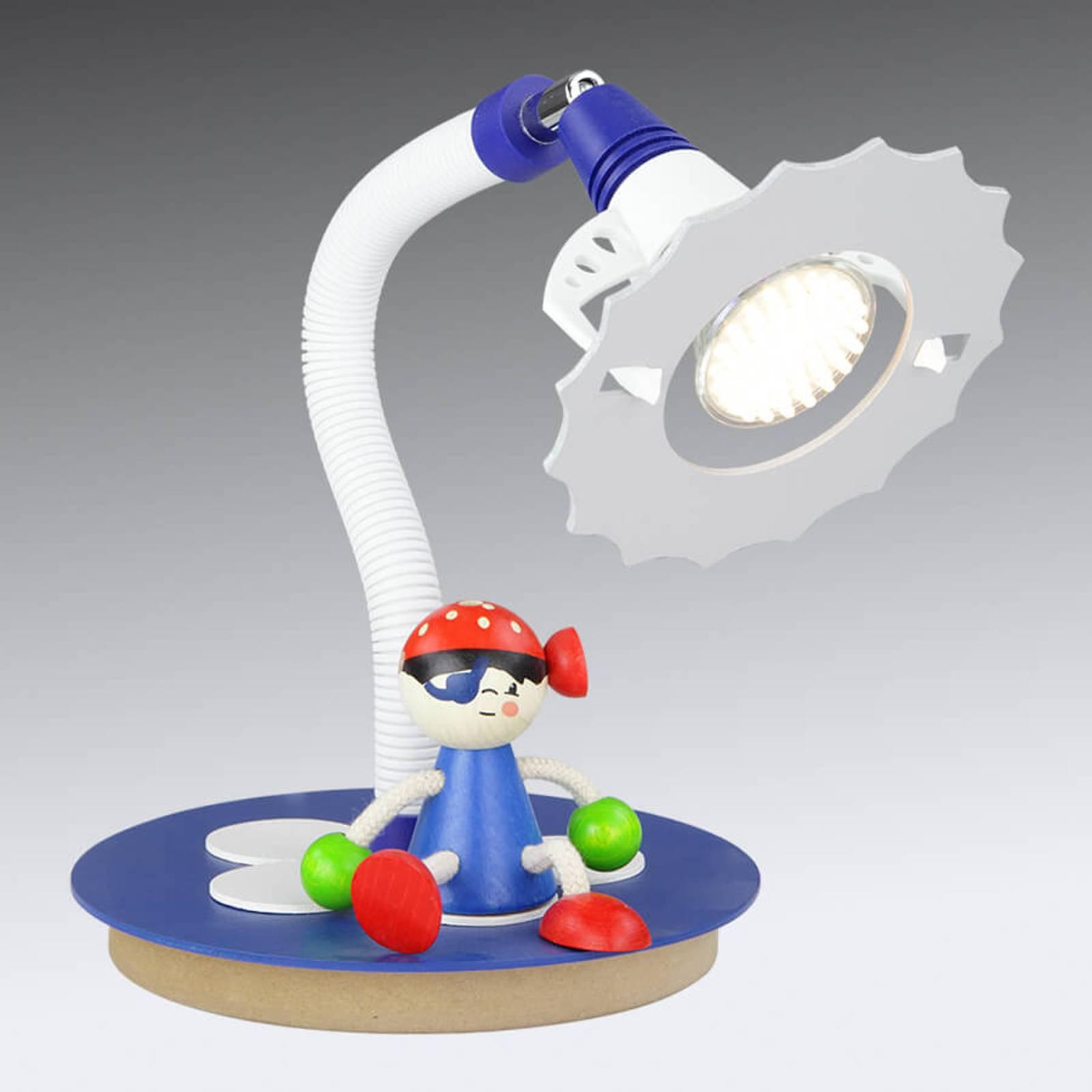 LED-bordlampe Sjørøvere med sittende figur