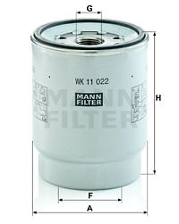 Polttoainesuodatin MANN-FILTER WK 11 022 z