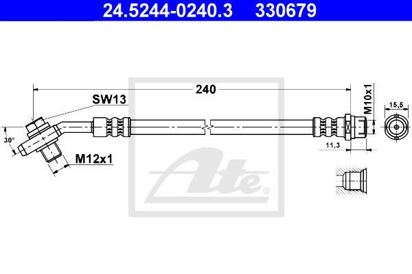 Jarruletku ATE 24.5244-0240.3