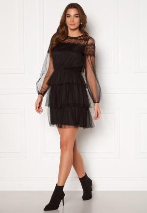 Happy Holly Smilla ls mesh dress Black 40/42