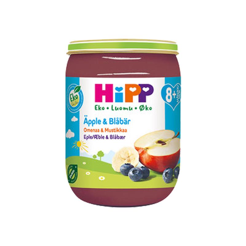 Eko Barnmat Äpple & Blåbär 190g - -160% rabatt