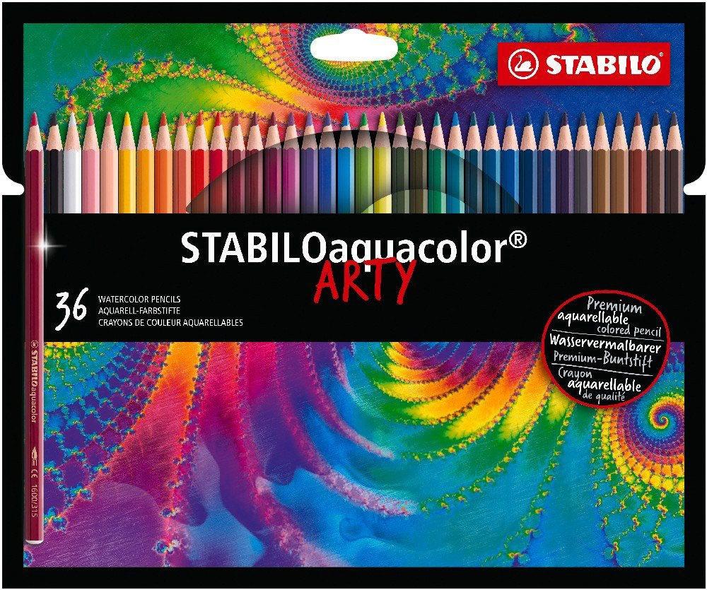 STABILO Aquacolo Akvarellpennor 36-pack & Skissblock