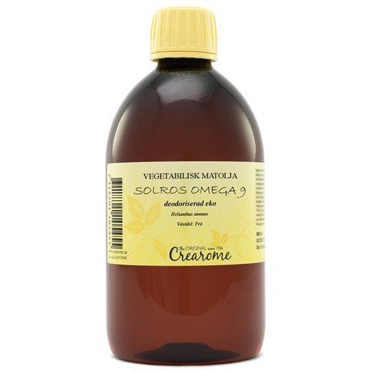 Crearome Ekologisk Solrosolja Omega 9 Deodoriserad, 500 ml