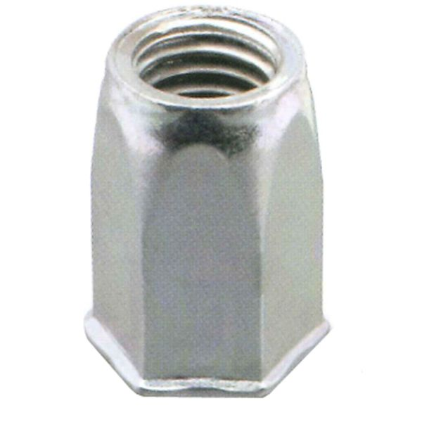 Ejot 460400 Blindnagelmutter selvforsenket åpen sekskant, 200-pakning M10