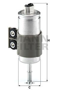 Polttoainesuodatin MANN-FILTER WK 611/6