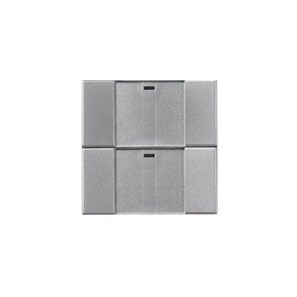 ABB Impressivo 6732-83-500 Painike 2-napainen, langaton Alumiini