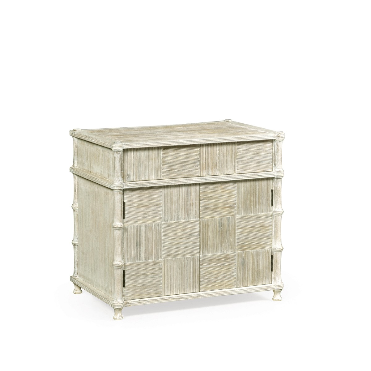 William Yeoward | Bywater Side Table With Cupboard Washed Washed Acacia