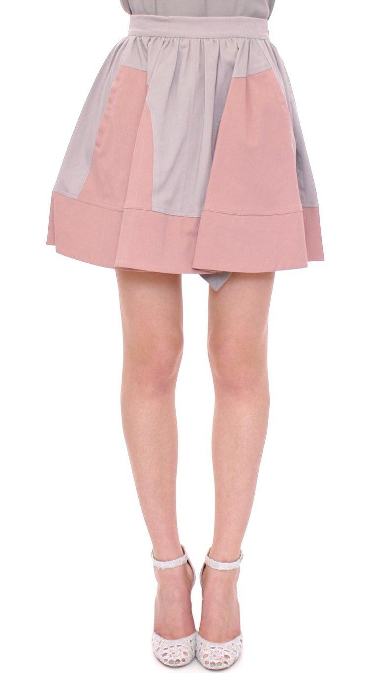 Comeforbreakfast Women's Mini Short Pleated Skirt Pink MOM10048 - S