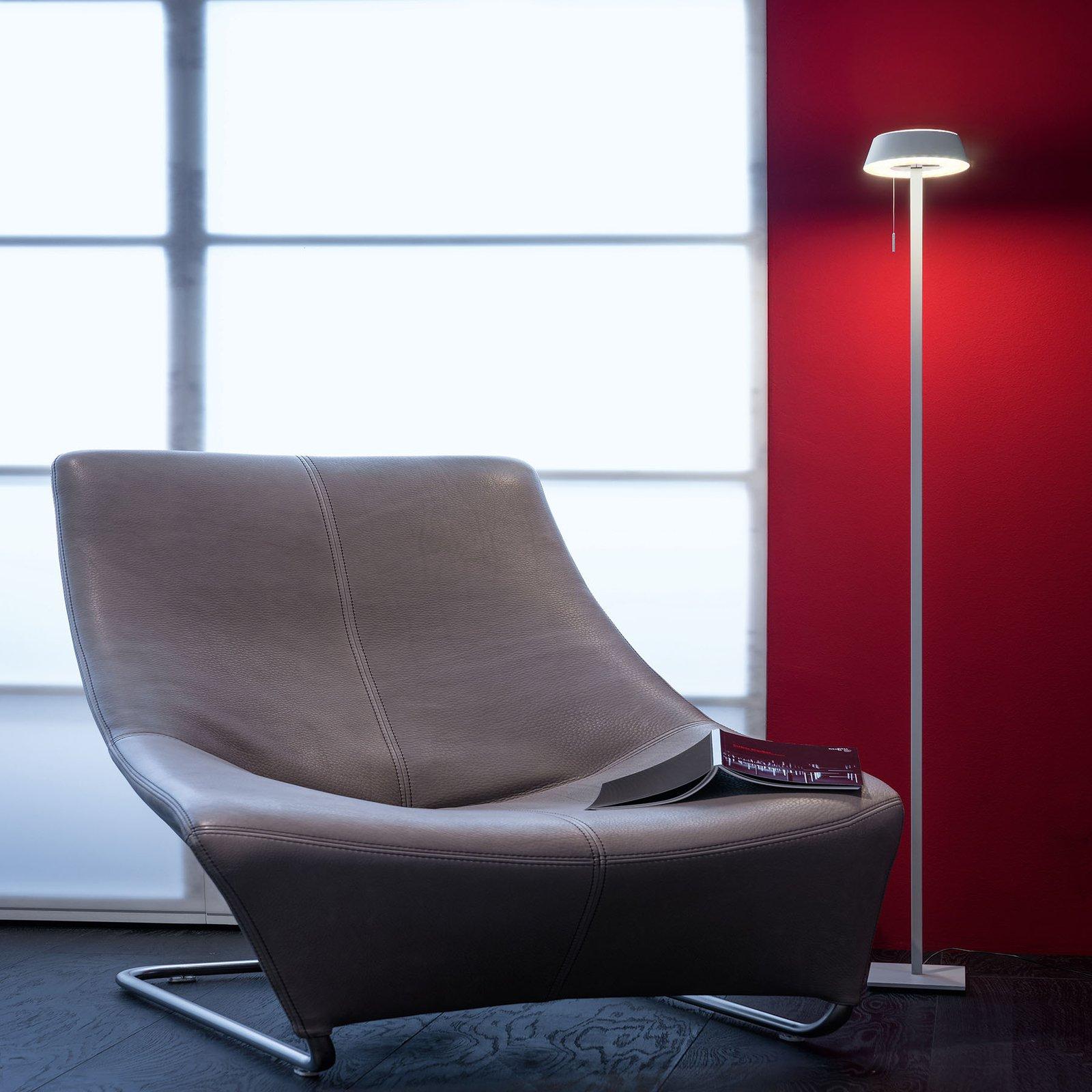 OLIGO Glance LED-gulvlampe, grå matt