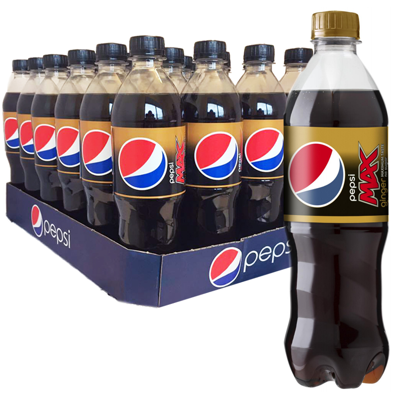 "Hel Platta Pepsi Max ""Ginger"" 24 x 50cl - 61% rabatt"