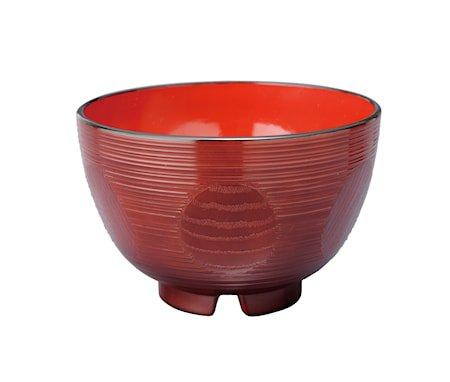 Japansk skål i plast – Suziiri Kikko Rød