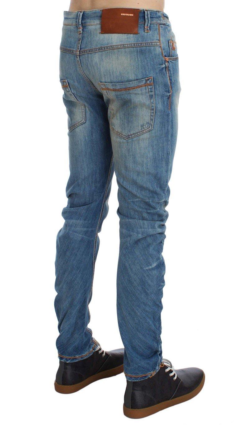ACHT Men's Cotton Slim Twist Fit Jeans Blue SIG30522 - W34