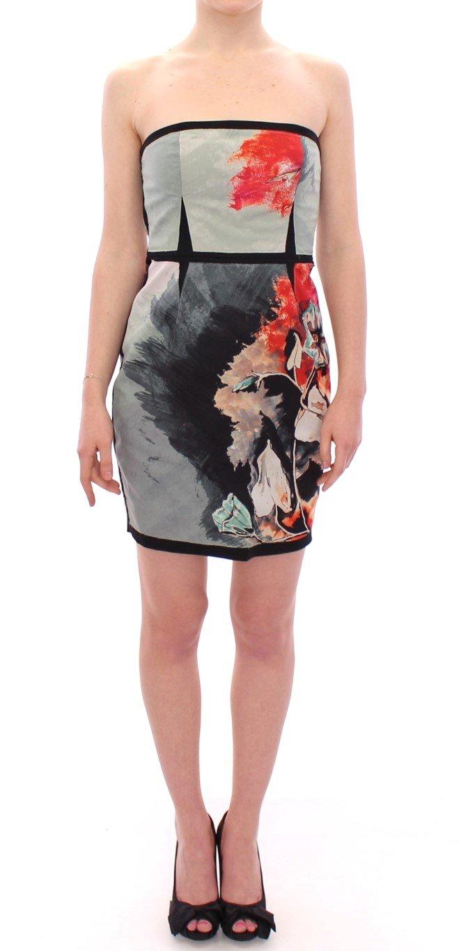 Sachin & Babi Women's Strapless Silk Floral Mini Shift Dress Multicolor GSD12608 - IT40 S