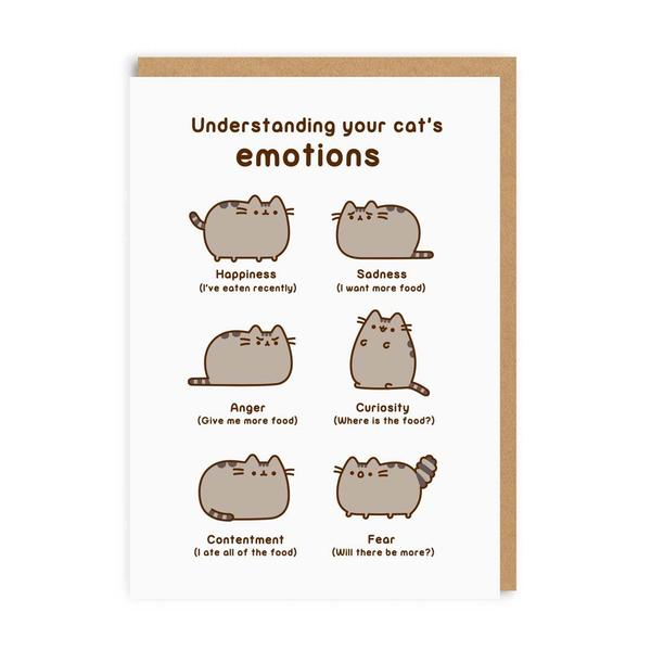 Understanding Your Cat's Emotions Greeting Card