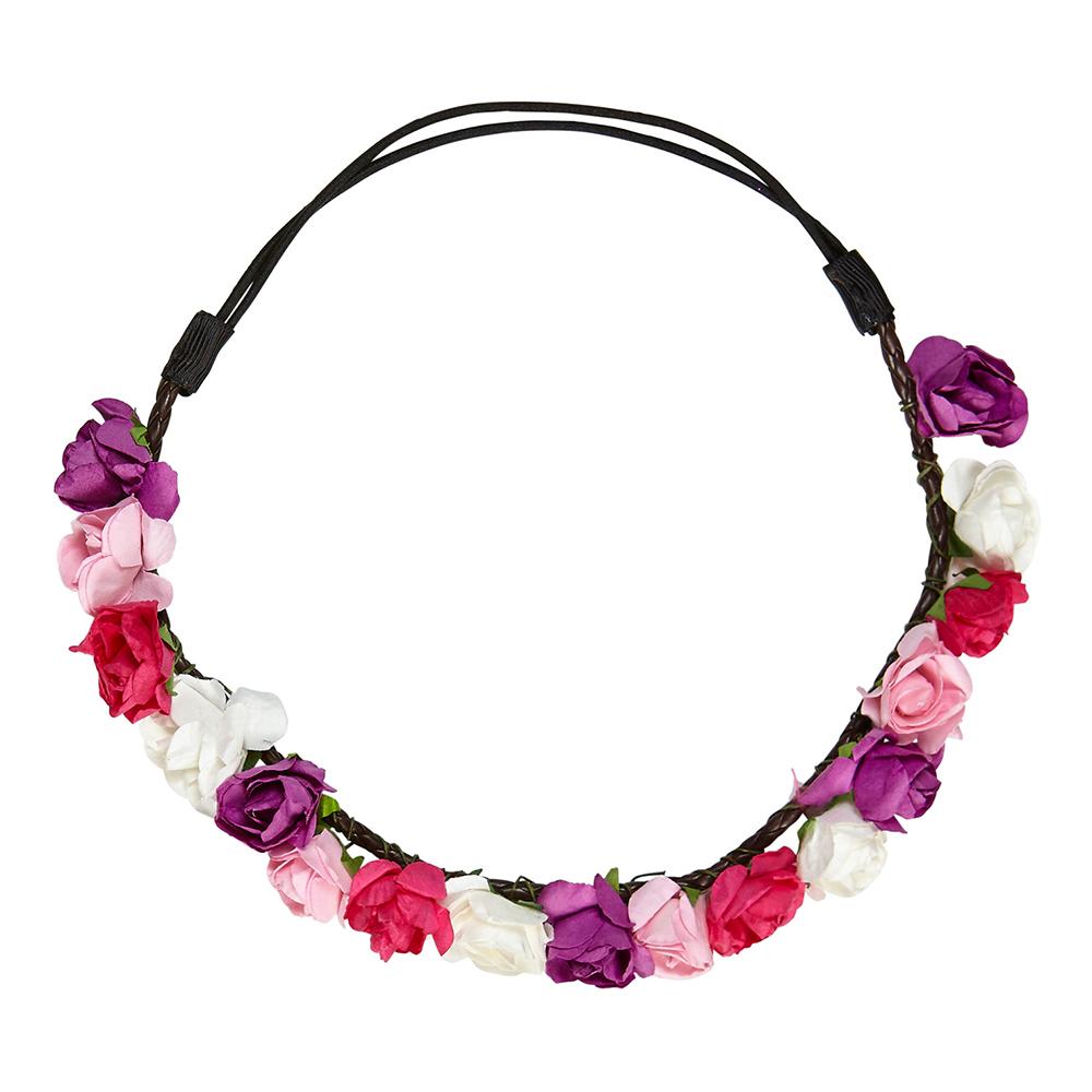 Hårband med Blommor Love - One size