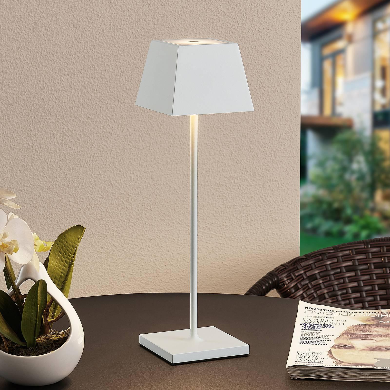 Lucande Patini -LED-pöytälamppu ulkokäyttöön