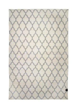 Trellis teppe hvit/grå – 140x200