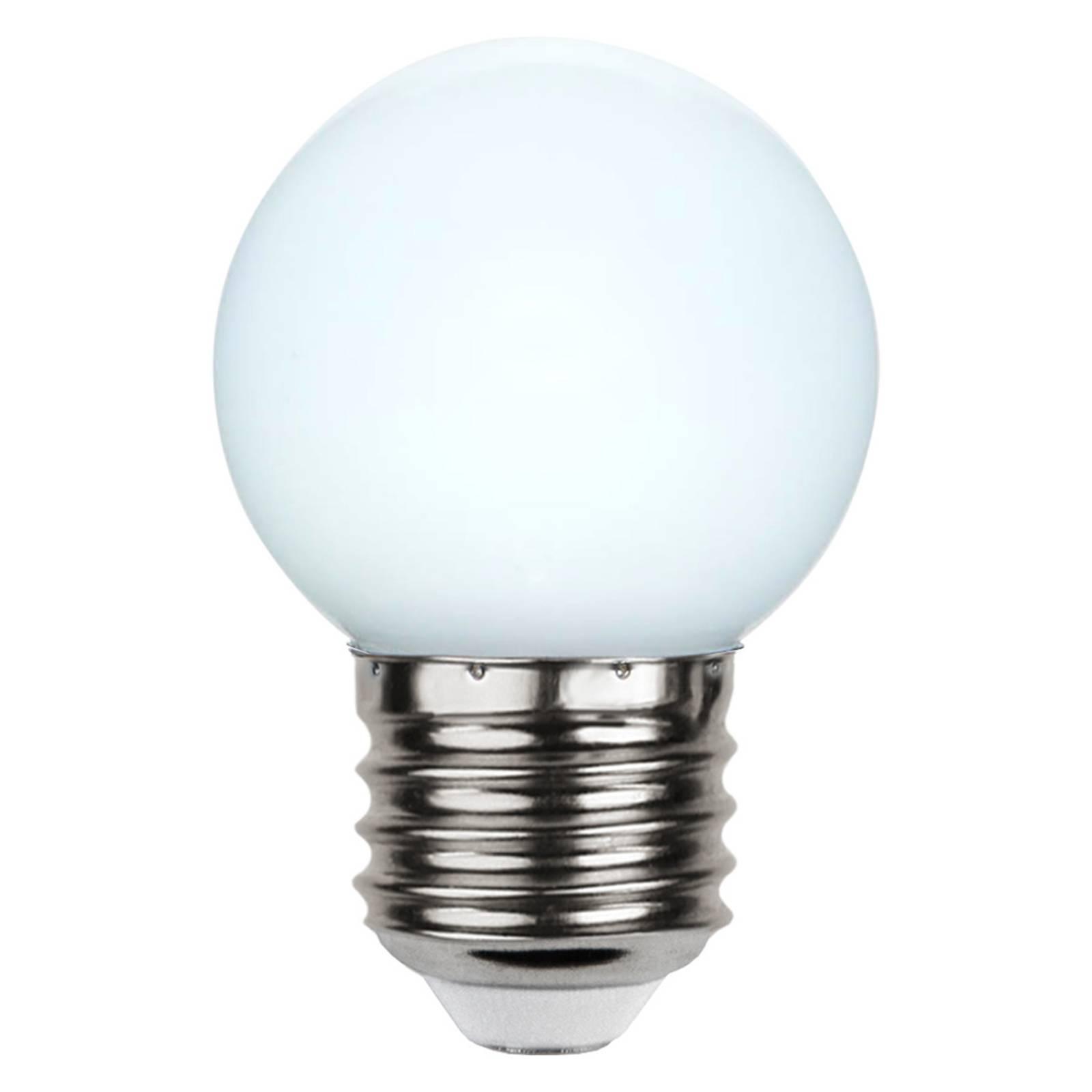 LED-lamppu E27 G45 valoketjuihin valkoinen 6 500 K