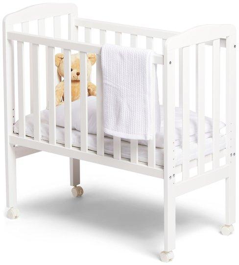 JLY Dream Bedside Crib, Hvit