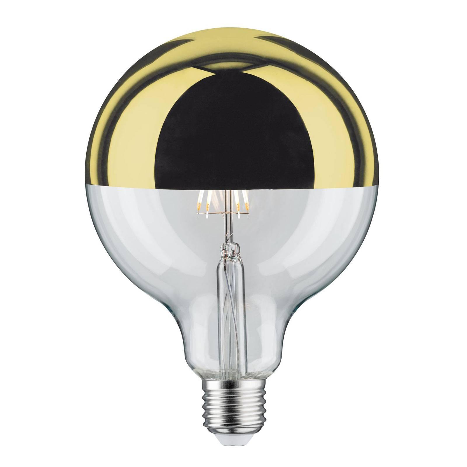 LED-lamppu E27 G125 827 6,5W pääpeili kulta